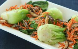 bok choy with carrots
