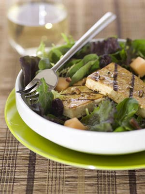 Grilled Tofu and Melon Salad